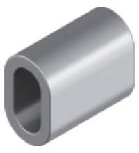 Зажим алюминиевый DIN 3093  в магазине МЕТИЗПРАЙС. Низкая цена! Всегда в наличии Зажим алюминиевый DIN 3093  в Киеве
